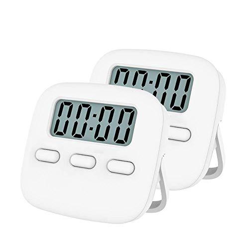 Timer da Cucina Digitale Timer da Cucina Digitale Timer da Cucina Cronometro Display LCD a Grande Schermo 2 Pezzi Timer per Conto alla rovescia Life Timer (Colore: Blu, Dimensioni: 64x57mm)
