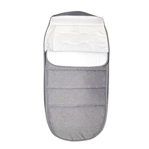 Baby Schlafsack 2.5 Tog, Kinderwagen Schlafsack Neugeborenen Fußsack 0-24 Monate, Grau