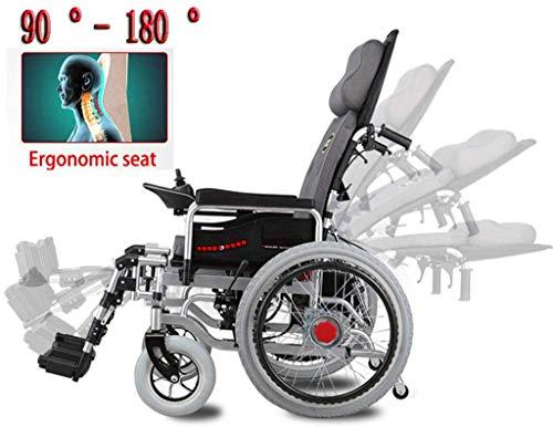 Elektrorollstuhl Heavy Duty Elektro-Rollstuhl mit großen Rädern, elektrisch betriebene faltbare 250W * 2 Double Motor Sitzbreite 46cm 360 ° Joystick, Behinderte älterer tragbarer Elektrorollstuhl Bequ