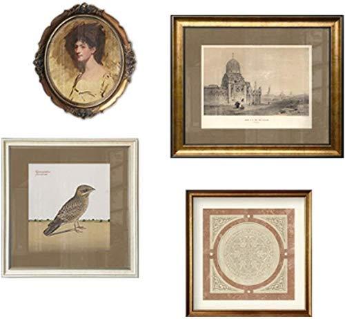 GPWDSN Bilderrahmen Für Wand, 4 Pack Frames Wand- Bilderrahmen Massivholzrahmen-Hintergrund-Wand-Foto-Rahmen-Wand-Set