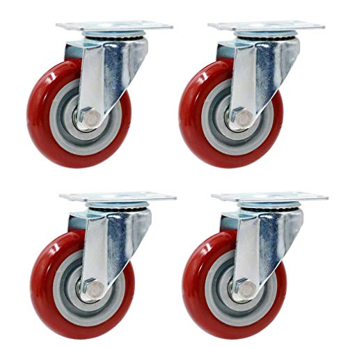Moving Caster Wheels Heavy Duty Swivel Wheels for Furniture Trolley Wheels Pack Of 4 Swivel Furniture Casters,Industrial Castor,Heavy Duty,Double Ball Bearing,Wear-Resistant,No Noise,Replaceable For T