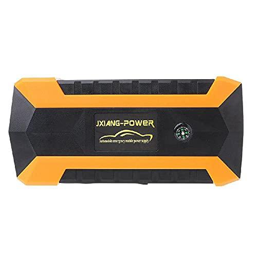 Riloer Arrancador para Coche, 9000mAh 12V Arrancador para Coche, 4 USB Amplificador de Banco de Energía, Cargador de Batería, Linterna LED Batería de Emergencia Booster Banco de Energía