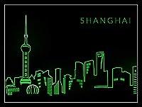 Shanghai Neon Printed ティンサイン ポスター ン サイン プレート ブリキ看板 ホーム バーために