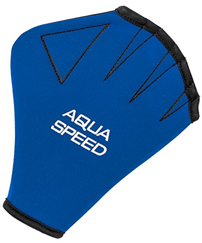 Aqua-Speed Nuoto Guanti Guanti in Neoprene Sport acquatici Guanti in Neoprene per Aqua Fitness Gloves, Donna, blu/nero, M