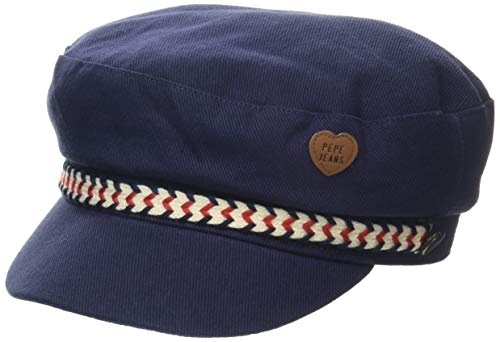 Pepe Jeans Mädchen Baker Hat Strickmütze, Blau (Old Navy 584), Small