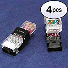 GOWOS (4 Pack) RJ45 Cat.6 UTP Toolless Plug