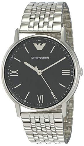 Emporio Armani Herren Analog Quarz Uhr mit Edelstahl Armband AR11152