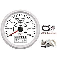 L測定ツール 85mm GPSスピードメーター 0-70ノット 0〜80MPH LCDディスプレイ付き マリンボートヨットの走行距離計 (Color : A)