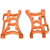 Tbest Bras supérieur arrière, pièces durables de Mise à Niveau de l'alliage d'aluminium 2pcs pour Le véhicule Baja RC de Voiture de Course de 1/5 HPI(Orange)