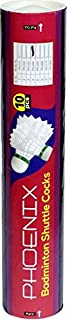 Prokyde Phoenix 444 shuttlecocks (Pack of 10,White)