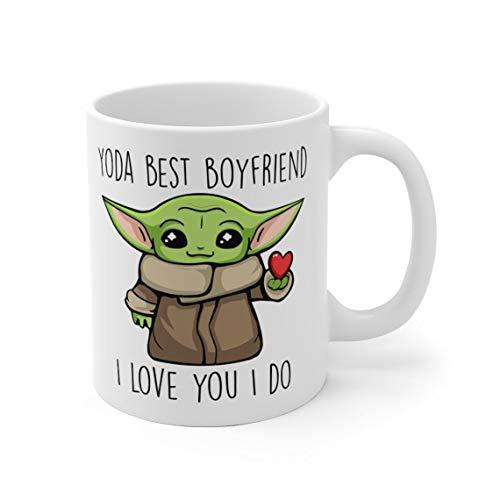 Yoda Best Boyfriend Mug, I Love You I Do Mug Valentine Day, Friend, Mom, Dad, Trending Gift Birthday Coffee Mug 11oz-15oz