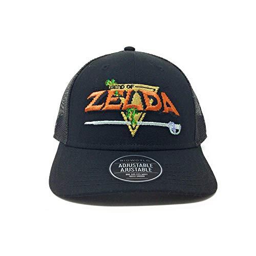 Bioworld Men & rsquo; s Licensed The Legend of Zelda Gorra de Camionero con ala Curva de Lona lijada Link O/S Negro