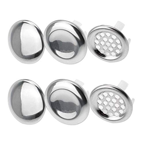 9 Pcs Sink Overflow Ring Kitchen Bathroom Sink Hole Round Overflow Cover Basin Trim Overflow Drain Cap Cover Insert in Hole Spares for Bathroom Kitchen