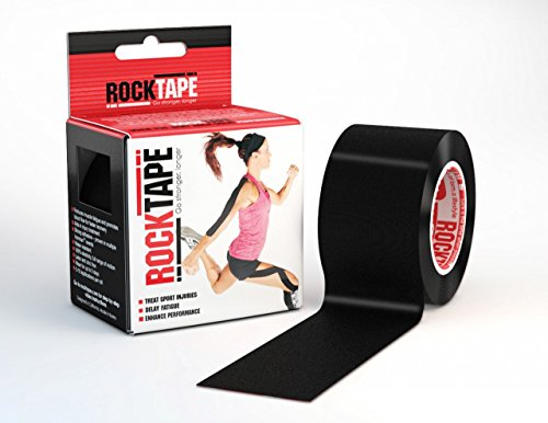 Rocktape Kinesiology Tape for Athletes, Water Resistant, Reduce Pain and Injury Recovery, 180% Elastic Stretch