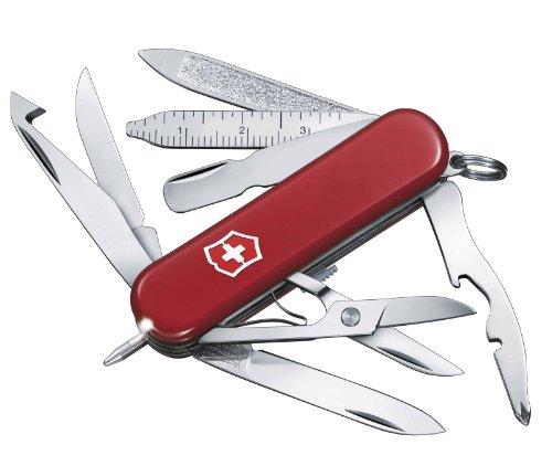 Victorinox Taschenmesser Midnite MiniChamp (18 Funktionen, LED-Licht, Kugelschreiber) rot