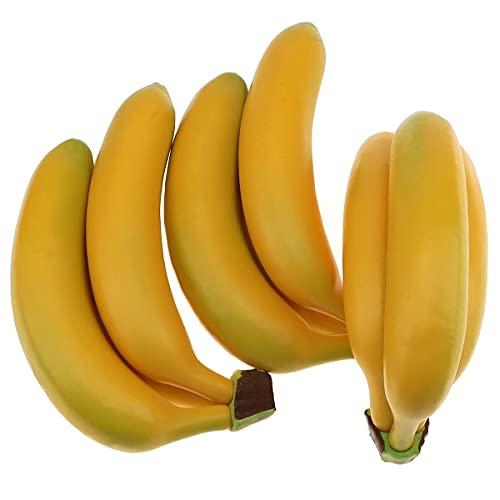 Gresorth 9 Stück Künstliche Lebensechte Banane Deko Gefälschte Früchte Obst Party Festival Dekoration
