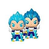 2Pcs Dragon Balles 10Cm Blue Vegetaes Powering Up (Brilla En La Oscuridad) Figura De Acción Juguetes...