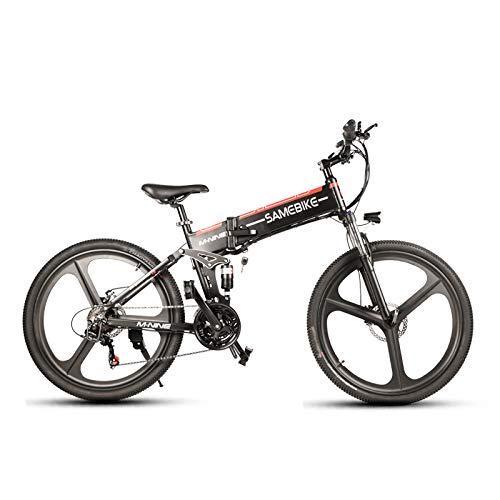 SHIJING LO26 350W Bici del ciclomotor eléctrico Inteligente Bicicleta Plegable 10.4Ah 48V 30 kmh Velocidad máxima Luz