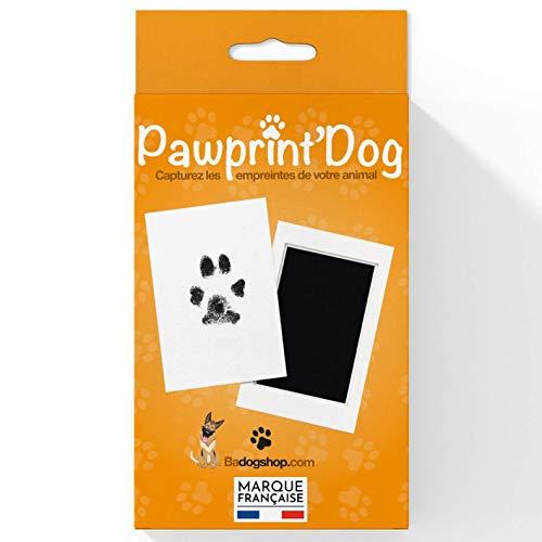 Badogshop.com - Kit de huellas para perro, sello de tinta para perro y gato, diseño de perro y gato, tamaño grande, 12,5 x 8 cm