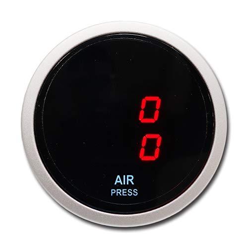 MOTOR METER RACING Electronic Suspension Air Pressure Gauge 2' Dual Digital Display 220 PSI Includes sensors Kits