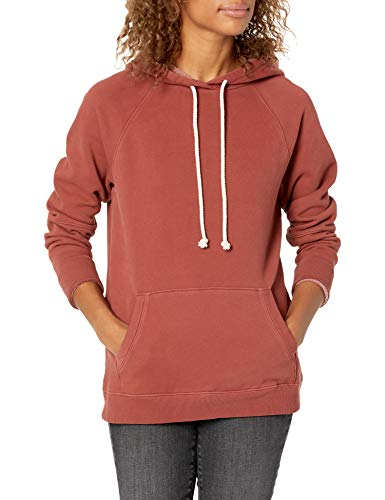 Goodthreads Heritage Fleece Seamed Sweatshirt Dress-Shirts, Russet Brown, M