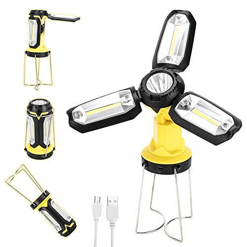 HEDAQI LED Work Light Rechargeable Camping Lantern Portable 2200mAh...