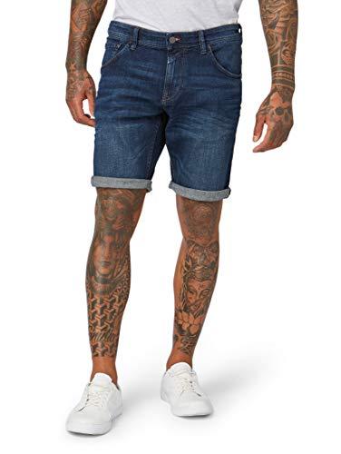 TOM TAILOR DENIM Herren Jeanshosen Regular Jeans Shorts Dark Stone wash Denim,L