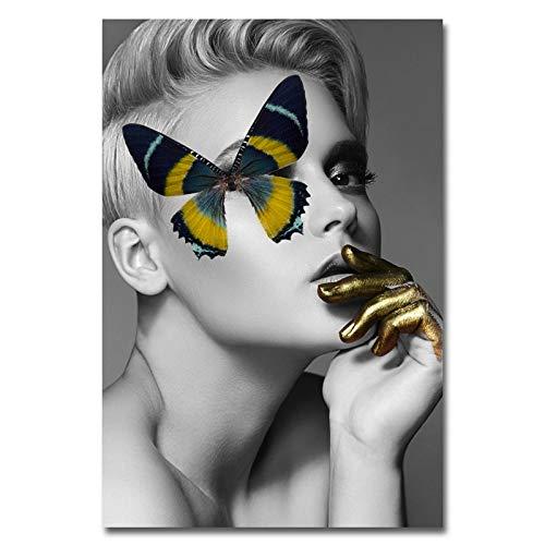 Sakkdaull S und Kinder Dekoration Haus des Künstlers Wand und Schmetterling und Leinwand 16 x 20 Zoll DIY Malen nach Zahlen