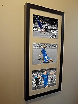 Signed Jamie Vardy Mahrez Okazaki Leicester City Autographed Photo Picture Frame 2