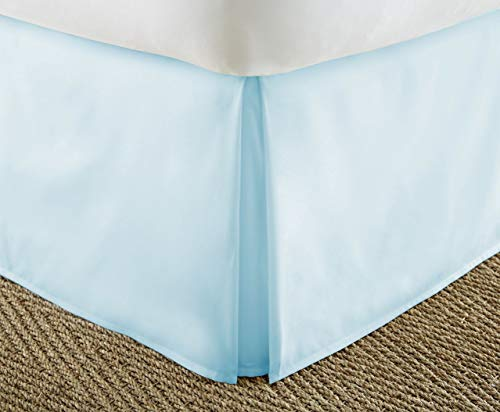 Buy Discount Soft EssentialsPremium Pleated Bed Skirt Dust Ruffle – Aqua – Twin XL (Units per case: 12)