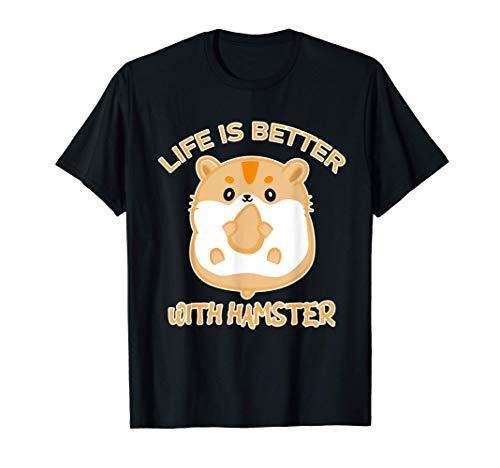 La vida es mejor con la jaula para roedores Hamster Pequeña Camiseta