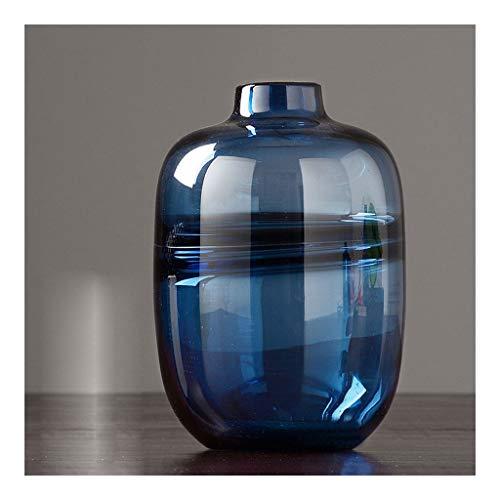 LXLAMP jarrones Cristal Transparente Mesa De Comedor De Moda Azul Decoración Creativa...