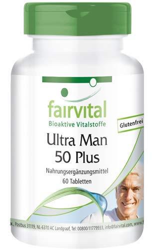 Ultra Man 50 Plus - HOCHDOSIERT - 60 Tabletten - Multivitamin für Männer - über 50 Inhaltsstoffe