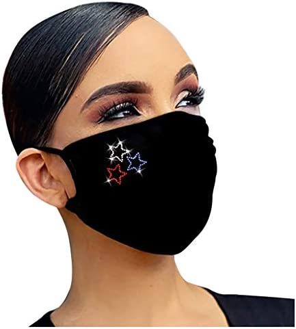 SPORTTIN 1 5PC Sequin Printed Dustproof Windproof Washable Reusable Unisex Men Women Diamond product image