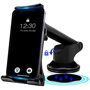 Calana Thick & Large Size Car Phone Holder Mount, Powerful Sucker Phone Holder for Car Easy Installation, Compatible Mobile Phones and Tablet