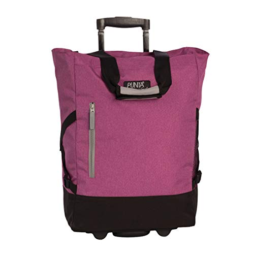 Einkaufstrolley/-tasche PUNTA pink-grau - (10183-5700)