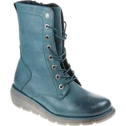 Heavenly Feet Bota Martina Borgoña, color Azul, talla 36 EU