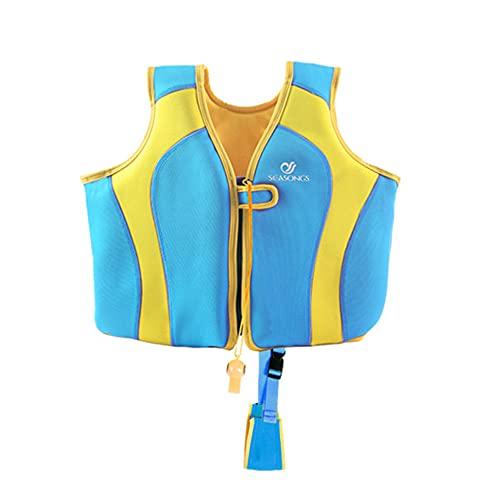 Wenxu Chaleco Salvavidas para niños Traje de flotabilidad de natación Chaleco Ligero para Deportes acuáticos con Silbato de Salvavidas Regalos de Verano para niños Accesorios para Piscinas