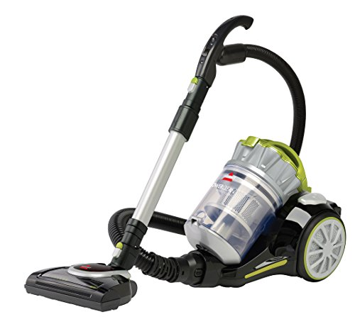 Bissell 1654C Powerclean Multi-Cyclonic Bagless Canister Vacuum, Silver/Green