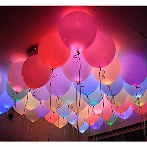 Palloncini a LED illuminati, confezione da 40 pezzi, che si illuminano al buio, per feste a LED, per 8-24 ore.