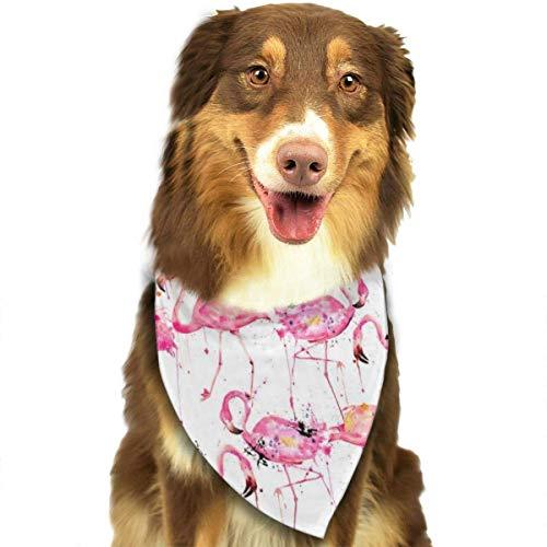 FunnyStar Hond Bandana Grote Schaal Roze Flamingo Sjaals Accessoires Decoratie voor Huisdier Katten en Puppies