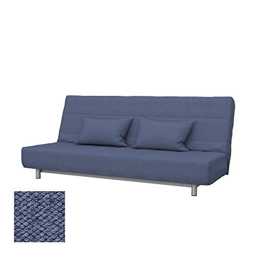 Soferia Funda de Repuesto para IKEA BEDDINGE sofá Cama de 3 plazas, Tela Nordic Denim, Azul