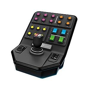 Logitech G Saitek Panel Lateral para Equipo Pesado, más de 25 Botones Asignables, Piloto Automatico Integrado, Carga Frontal, Palanca con Eje de Torsión, USB, PC/Mac, color Negro