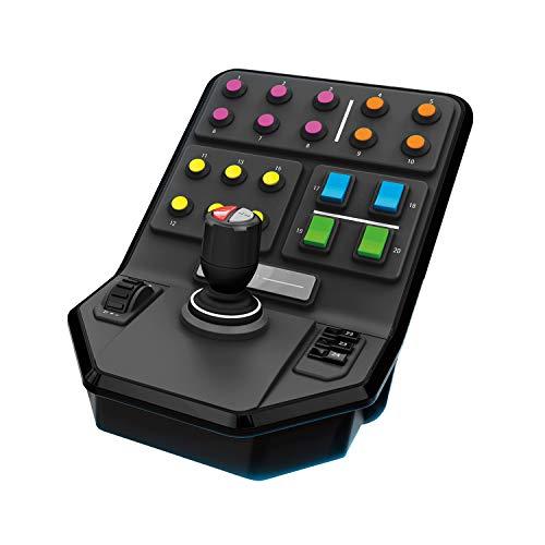 Logitech G Saitek Panneau Latéral pour Véhicule Lourd, +25 Boutons Assignables, Pilote Automatique Intégré, Chargeur Frontal, USB, PC/Mac - Noir