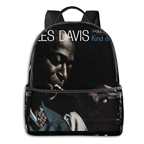 DJNGN Miles Davis Kind of Blue Laptop Backpack,Busin Travel Anti Theft Slim Durable Laptops Backpack