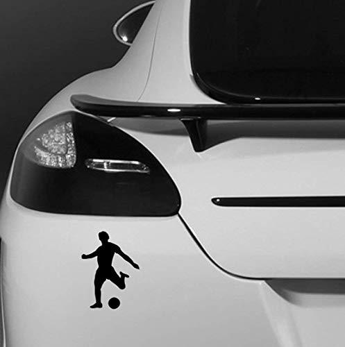 Fußball Fusballspieler Ball Fan Fußball Auto Fahrzeug Abziehbild - Schwarz, 15 cms wide x 20 cms high