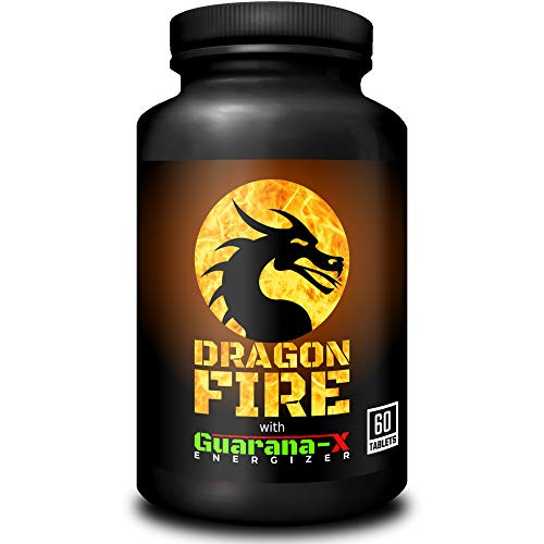 Dragon Fire with Guarana-X Energizer | Powerful Fat Burner & Energy Booster | Weight Loss & Slimming Supplement for Men & Women | 60 Tablets