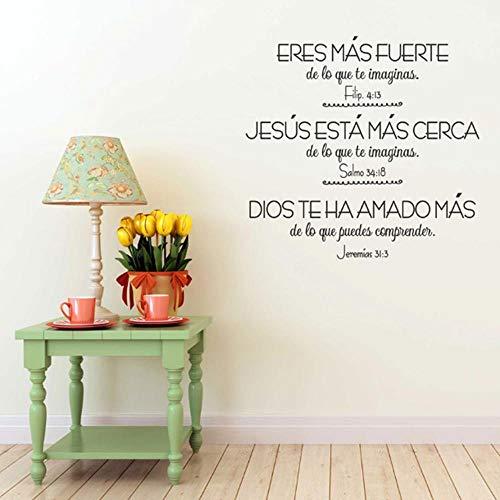 BMBM Versículos Bíblicos Vinilos Españoles Vinilos Decorativos Cris