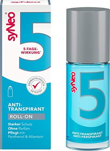syNeo 5 Antitranspirante Roll-On, Desodorante contra sudor fuerte para mujeres y hombres, 1 unidad...