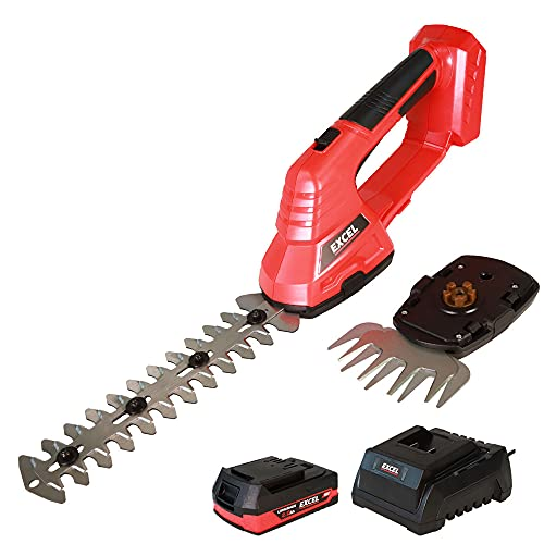 Excel 18V Hedge Trimmer & Grass Shear with 1 x 2.0Ah Battery + Fast Charger EXL5203